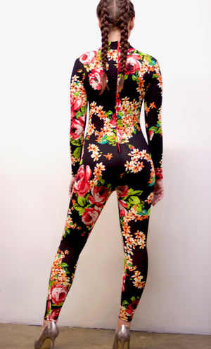 Mona Lisa Vito Inspired Floral Jumpsuit with Zipper Back
