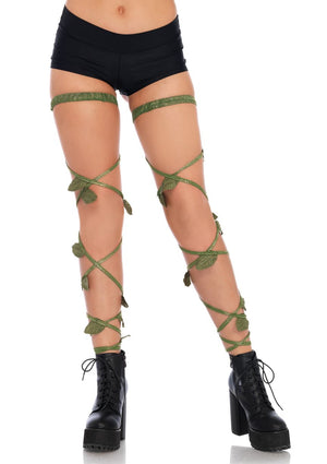 Vine Leg Wraps in Green