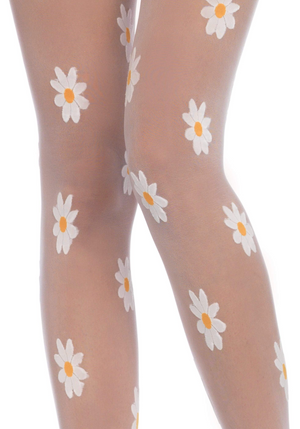 Sheer Daisy Stockings