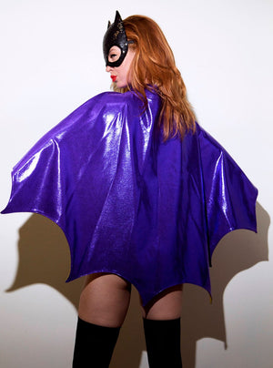 Purple Bat Hero Cape