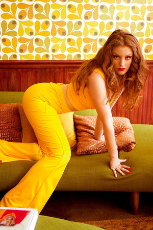 Highwaist Bell Bottoms in Yellow