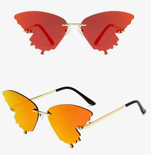 Orange Butterfly Glasses