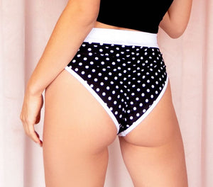 Pin-Up Polka Dot Highwaist Highcut Bottoms