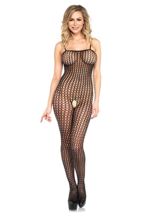 Crochet Bodystocking in Black