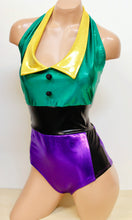 Joker Costume Set with Collared Romper and Suit Jacket