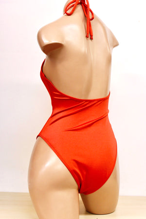 Heatwave One Piece with Ring Ties in Burnt Orange