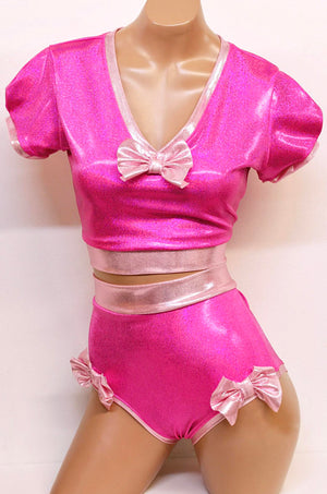 Pink Ballerina Doll Costume Set