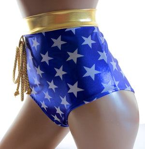 Star Superheroine Original Cut Briefs in Metallic Stars