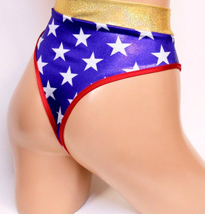 Star Superheroine Highcut Thongback Bottoms