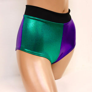 Daddy's Lil Jokester Green and Purple Cheeky Shorts
