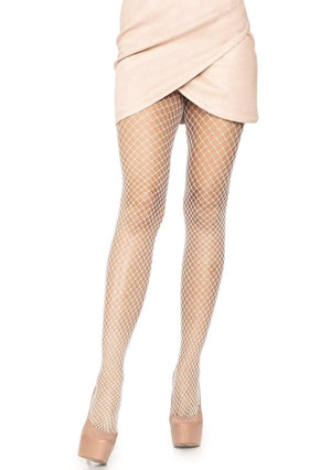 Industrial Net Tights in White