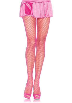 Industrial Net Tights in Neon Pink