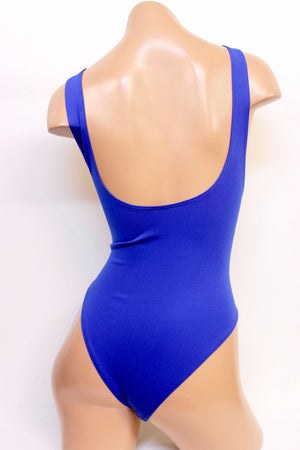 Suspender Swimsuit with Rioback in Royal Blue