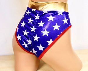 Star Superheroine Highwaist Highcut Briefs