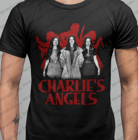 Charlies Angels V2 T-shirt-Blood Moon Shirts
