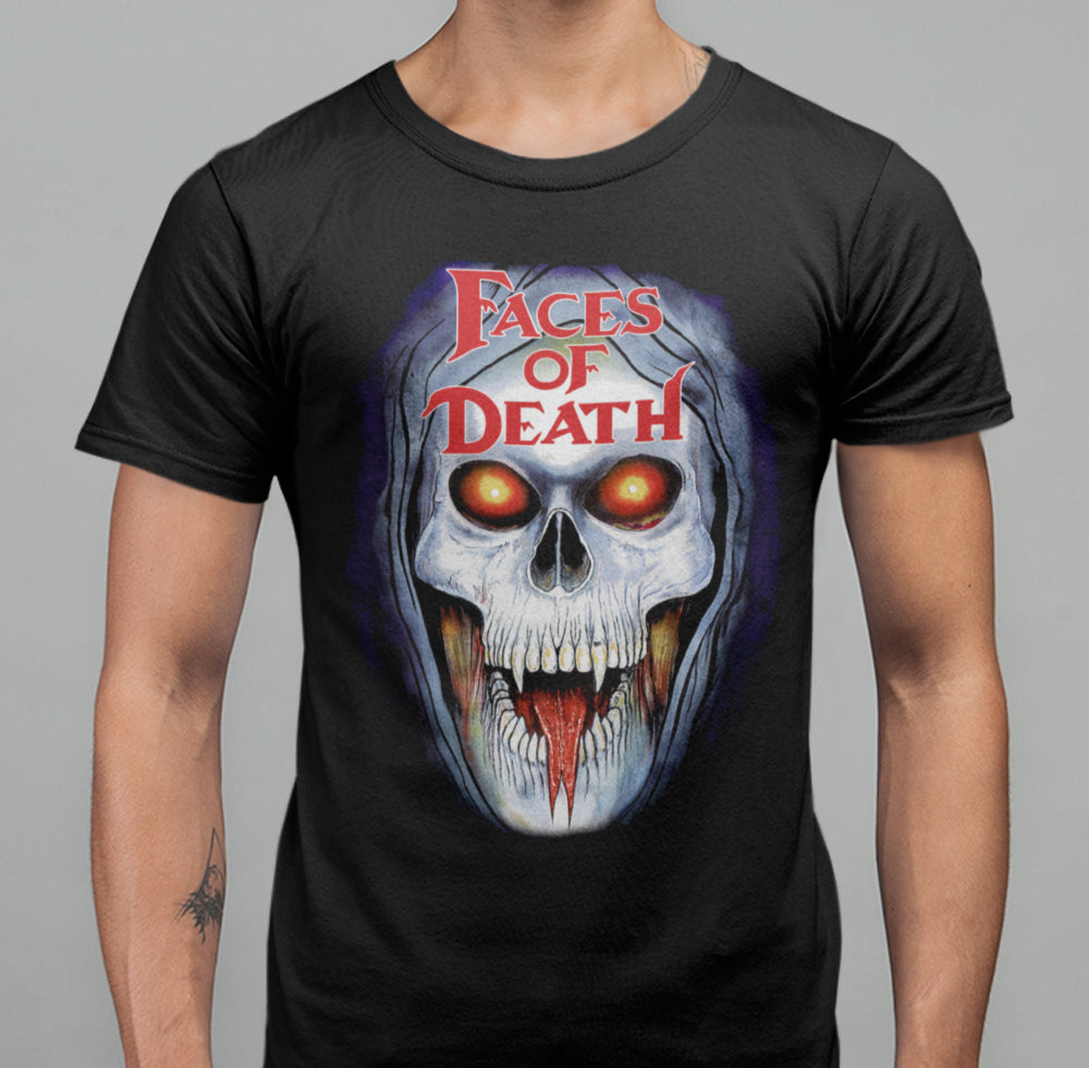 Faces Of Death - Demon Skull T-Shirt-Blood Moon Shirts