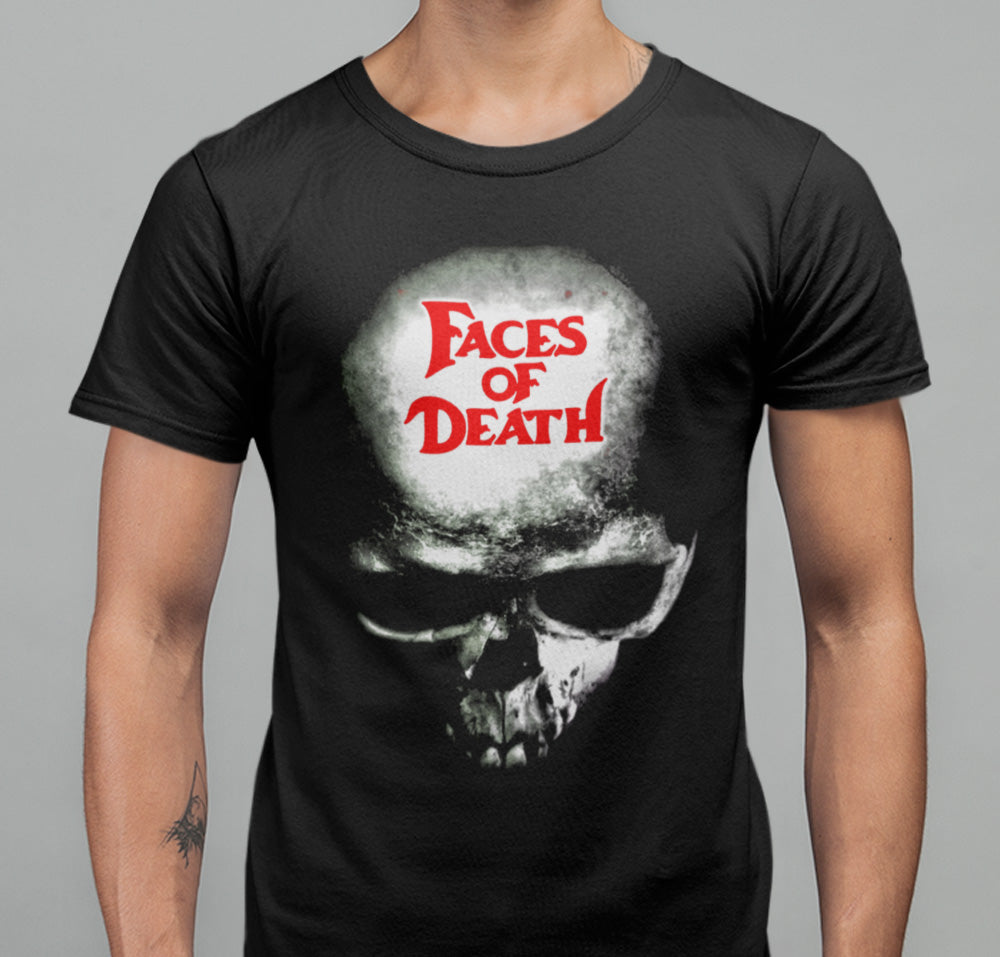 Faces Of Death Skull T-Shirt-Blood Moon Shirts