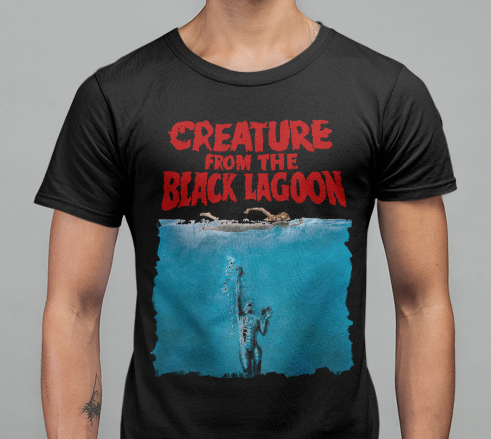 Creature From The Black Lagoon (Jaws Parody) T-Shirt-Blood Moon Shirts
