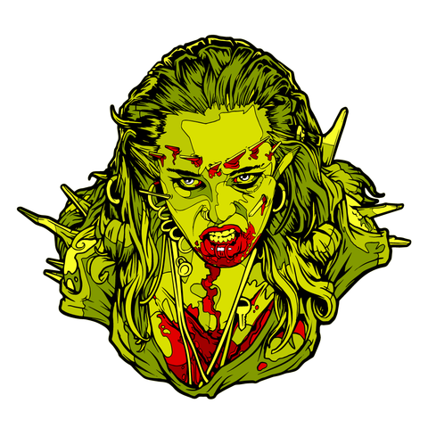 Return Of The Living Dead 3 - Julie Trioxin Variant Pin-Blood Moon Shirts