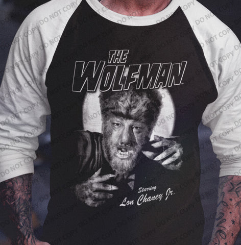 The Wolfman - Baseball Shirt-Blood Moon Shirts