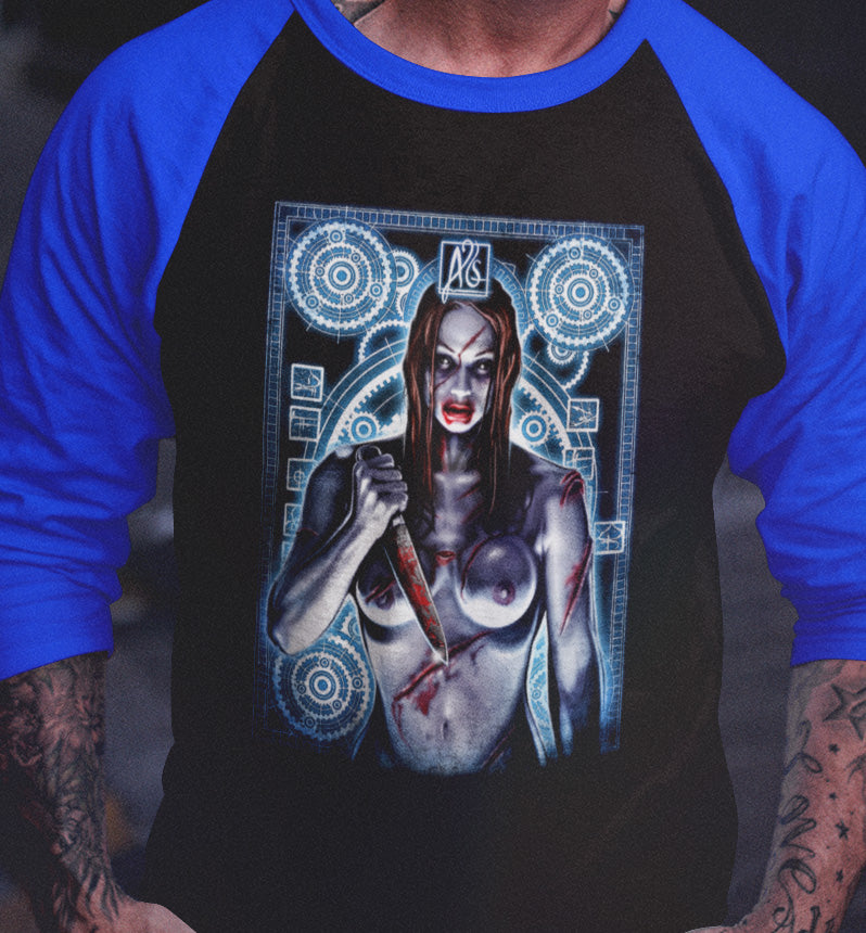 Thirteen Ghosts - The Angry Princess Gears Raglan-Blood Moon Shirts