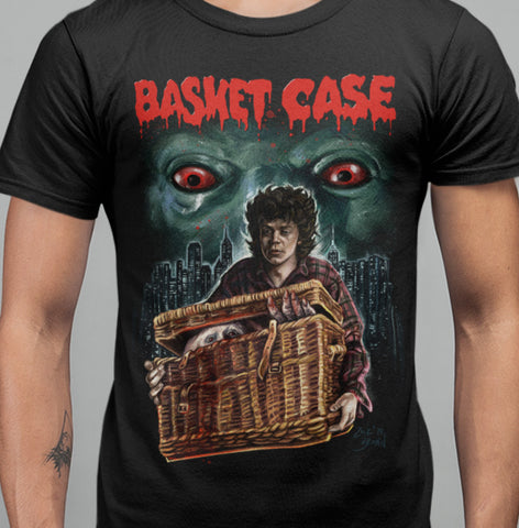 Basket Case - Peeking in The City T-Shirt-Blood Moon Shirts