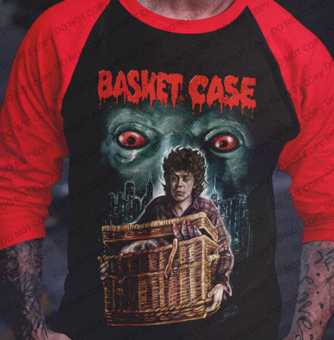 Basket Case - Peeking in The City Raglan Shirt-Blood Moon Shirts