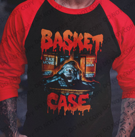 Basket Case - Belial Raglan Shirt - Blood Moon Shirts