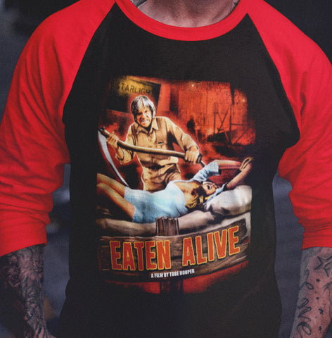 Eaten Alive - Raglan Shirt-Blood Moon Shirts