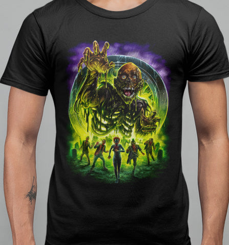 Return of The Living Dead - Trioxin Rampage T-shirt-Blood Moon Shirts