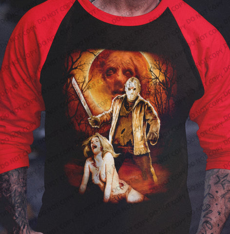 Jason Friday The 13th EXCLUSIVE Raglan Shirt-Blood Moon Shirts