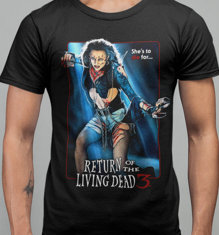 Return of The Living Dead 3 - Julie T-shirt-Blood Moon Shirts