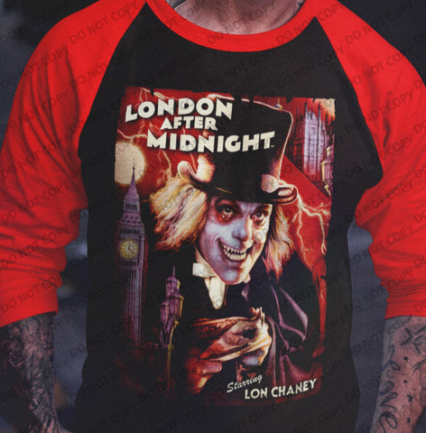 London After Midnight 3/4 sleeve raglan-Blood Moon Shirts