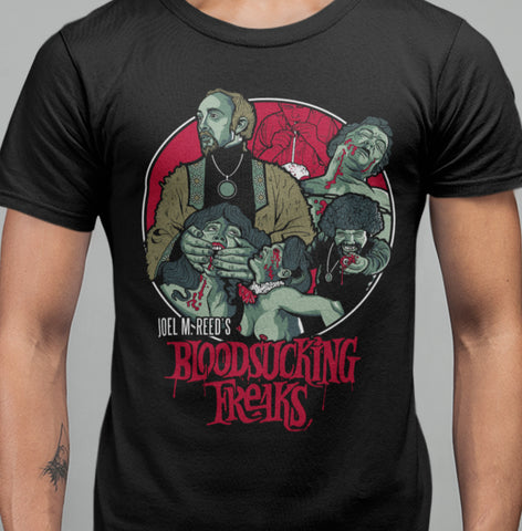 Bloodsucking Freaks - Joel Reed T-Shirt-Blood Moon Shirts