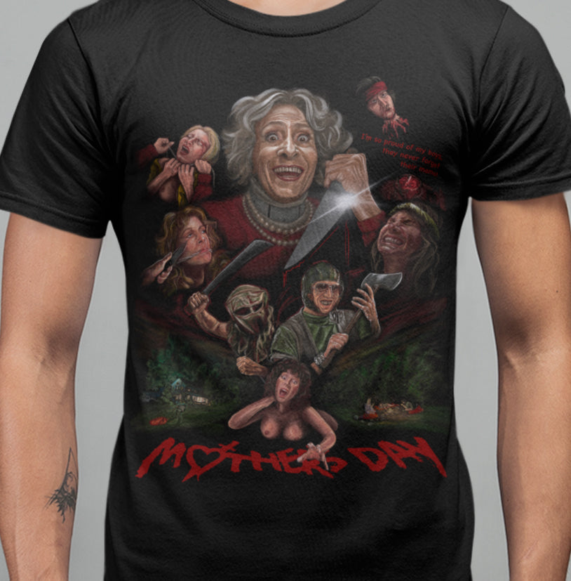 Mother Day (1980) -Never Forget Their Momma T-Shirt-Blood Moon Shirts