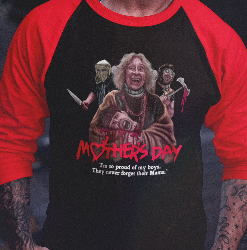 Mother Day (1980) - Proud Of My Boys Raglan-Blood Moon Shirts
