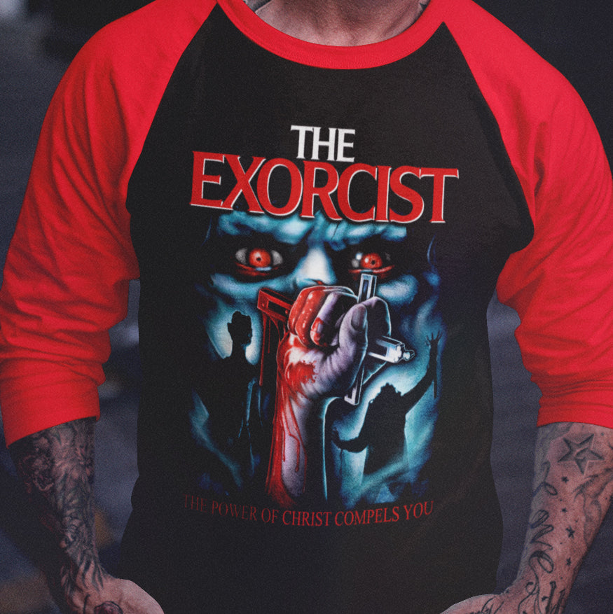 The Exorcist - Christ Compels You Limited Edition Baseball Shirt-Blood Moon Shirts