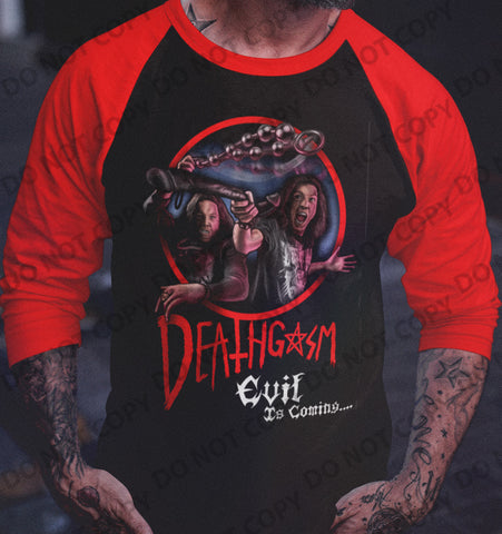 Deathgasm - Fighting Demons Raglan-Blood Moon Shirts
