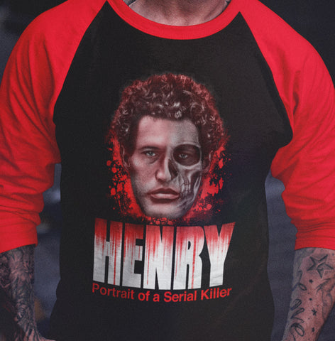 Henry - Portrait of a Serial Killer Raglan Shirt-Blood Moon Shirts