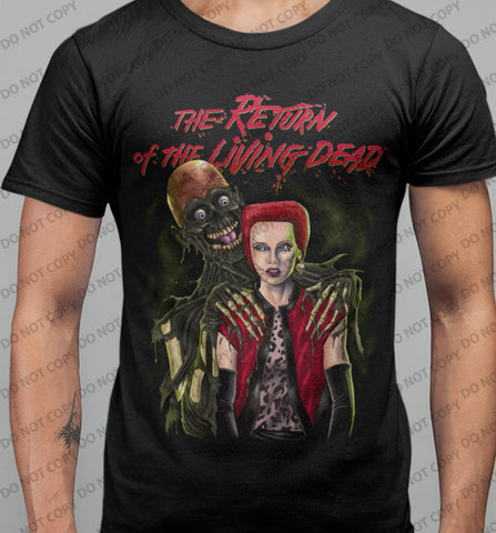 Return of The Living Dead - Trash and Tarman T-shirt-Blood Moon Shirts