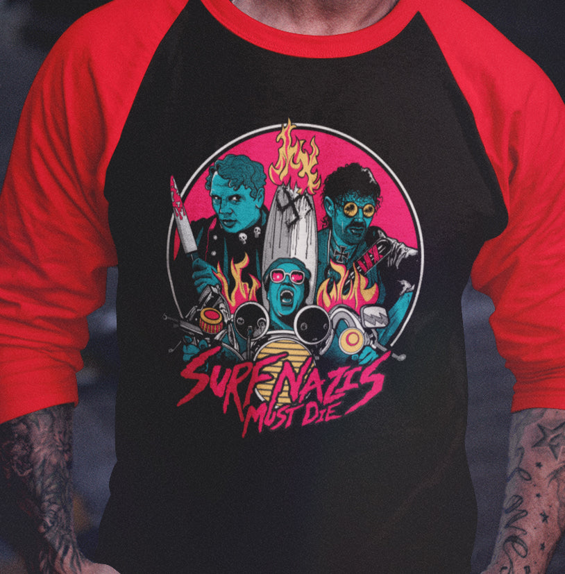Surf Nazis Must Die - Exclusive Raglan-Blood Moon Shirts