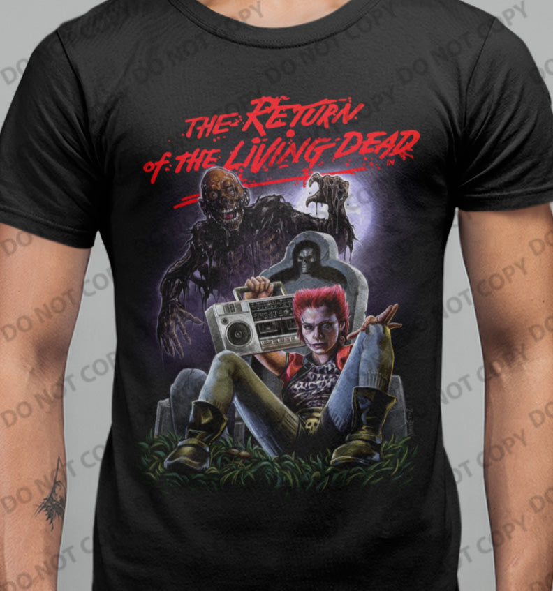 Return of The Living Dead - Graveyard T-shirt-Blood Moon Shirts