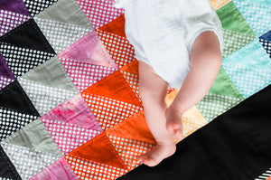 The Colour Pop Quilted Children's Blanket