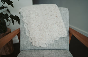 The Lacy Diamond Baby Blanket