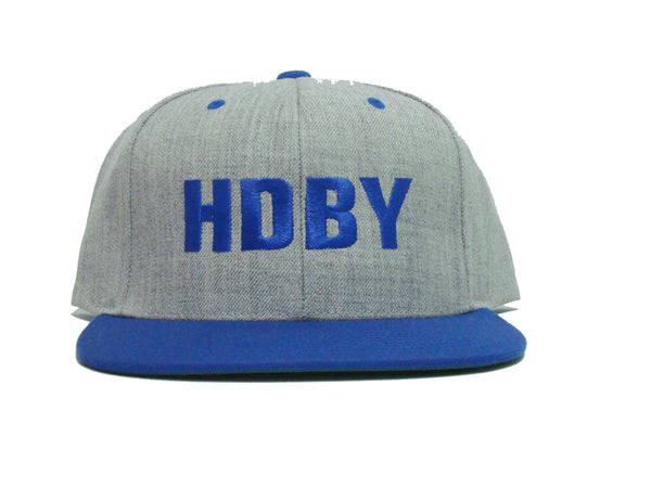 HDBY Snapback - Heather Grey/Royal Blue