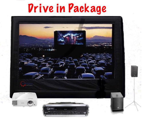 Drive In Movie Package - 6 Metre Outdoor Cinema Event Package >200-400 guests