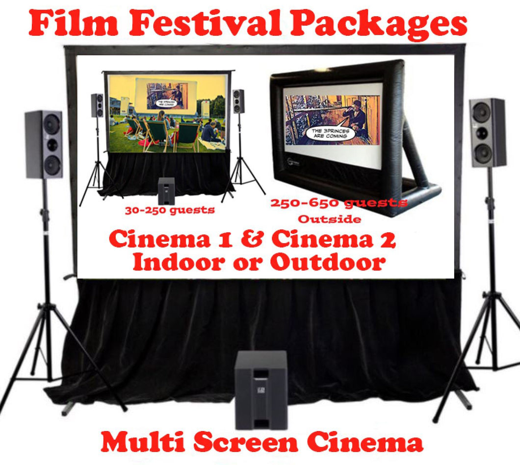 Film Festival Package - Multi Screen Events for >250-500+
