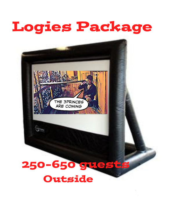 Logies Package - 6 Metre Outdoor Cinema Event Package >200-650 guests