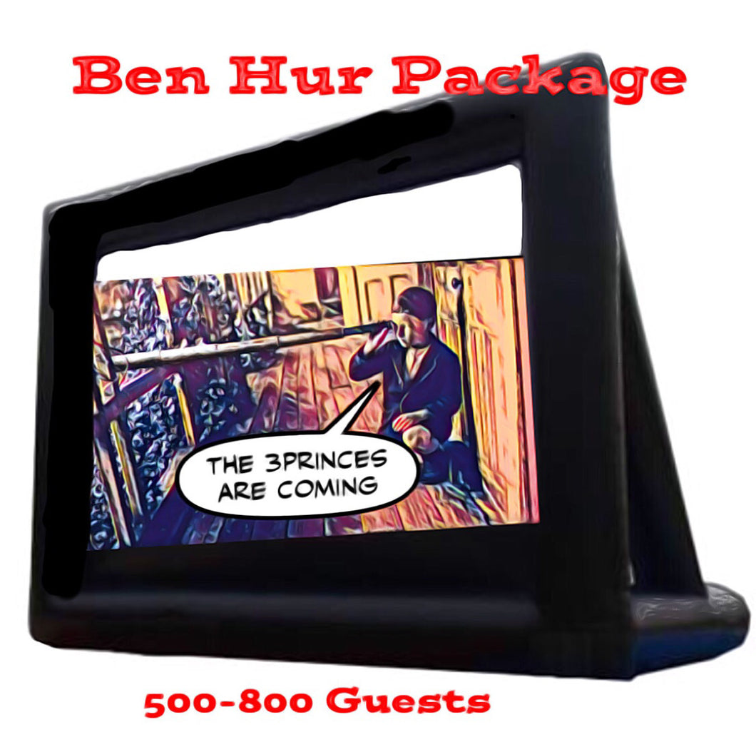 Ben-Hur Package - 6 Metre Cinema <650 & Full Service Event Management