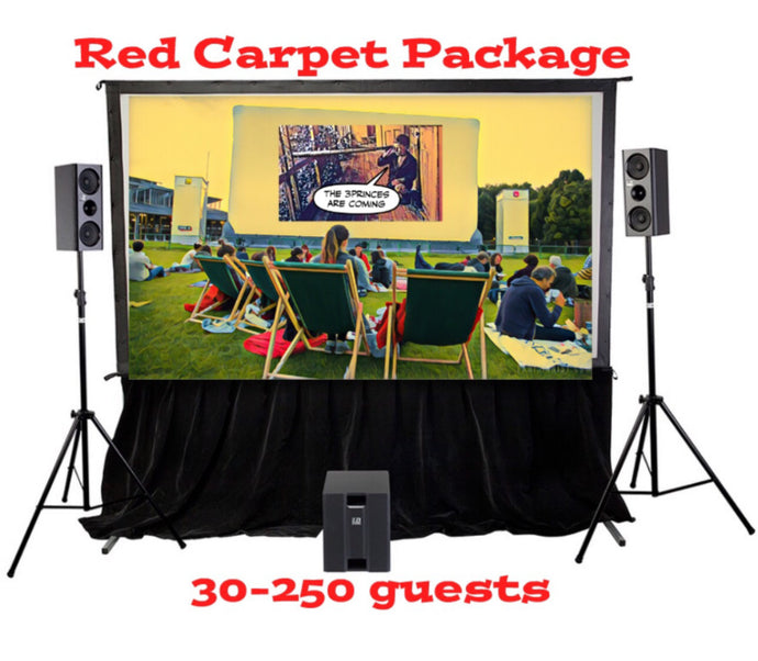 Red Carpet Package - 6 Metre Rigid Screen Indoor >50-250 guests